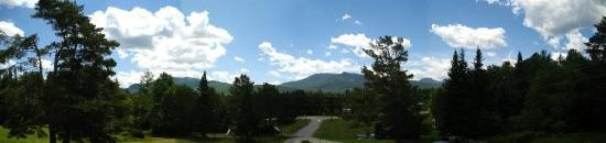 Twin Mountain, NH: panoramic view from our balcony