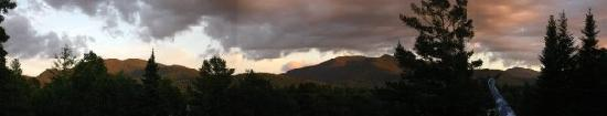 Twin Mountain, NH: view from our balcony at sunset