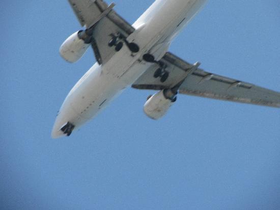 Paras Beach Apartments: plane over head