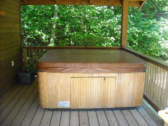 Evergreen Forest Cabins: Hot Tub On The Deck