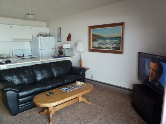 Ocean Terrace Condominium Suites : Living room - Kitchen