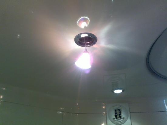 Premiere Classe Geneve - Prévessin : Detached light in colleagues bathroom.