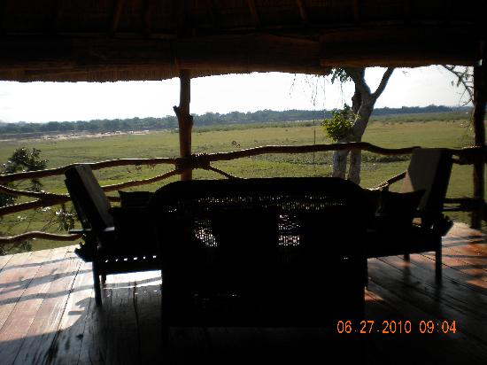 Kafunta River Lodge: View from Upstairs of room overlooking flood plain