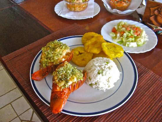 Villa Noche: Excellent fresh-caught lobster and ceviche dinner