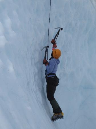 Anchorage, AK: Alison ice climbing on the Matanuska Glacier.. so cool