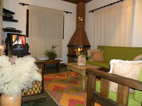 Sapucai-Mirim, MG: Das Wohnzimmer im Gästehaus