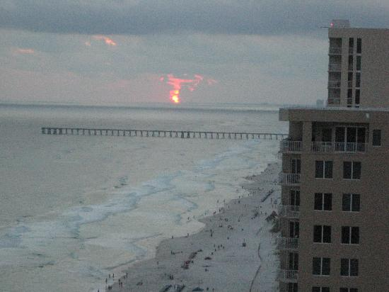 Ocean Ritz Condominiums: Sunset from balcony