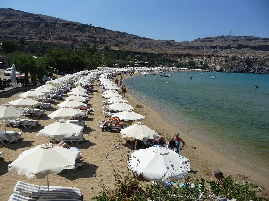 Hotel Lindos View: Main beach