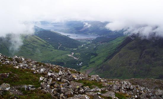 Glencoe Village, UK: View of Glen Coe Valley from husbands hike