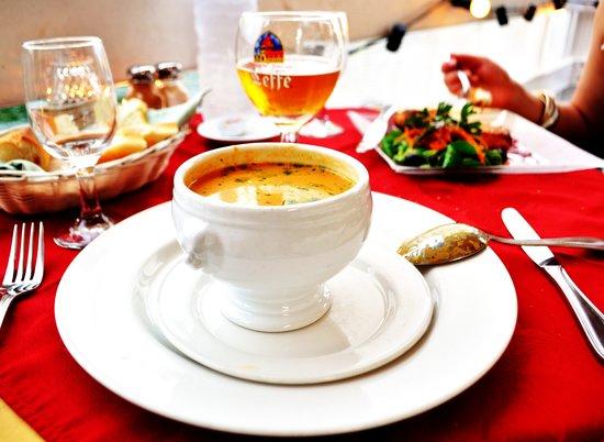 Tropicana: Soup--yum.