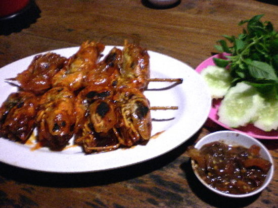 Honey Roasted Prawn of Mang Engking, served with Sambel Dadak