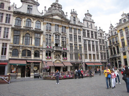 Grand Place, Brussels, a block from Hotel Le Dixseptieme