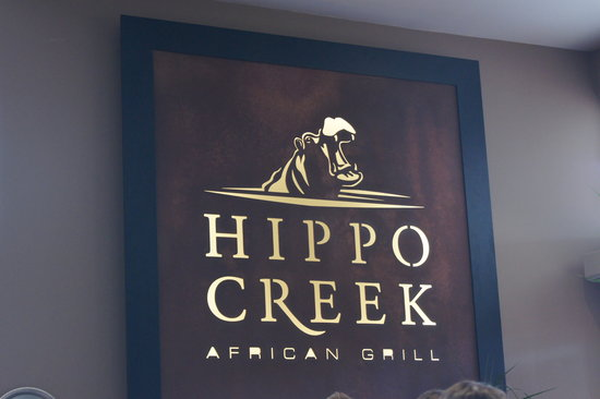 Hippo Creek African Grill: OutSide the restaraunt