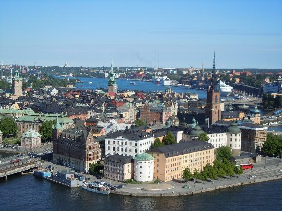 Ein Blick auf Stockholm ( Altstadt ect.) vom Rathausturm..auch interessant