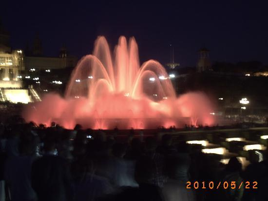 Silken Concordia Hotel: Magic Fountain in full flow