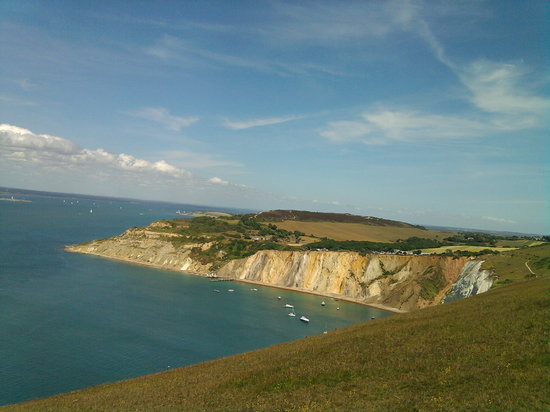 Pulau Wight, UK: Near the needles