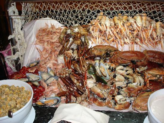 Meeresfrüchte auf dem Büffet