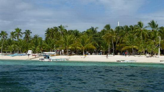 Malapascua Exotic Island Dive & Beach Resort: Strand vor dem Exotic