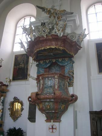 Fulda, Germany: Kloster Frauenberg, Kanzel