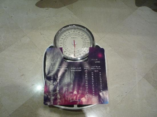 Radisson Blu Royal Suite Hotel, Jeddah: weigh scale available