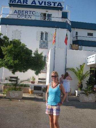 Mandy outside the hotel