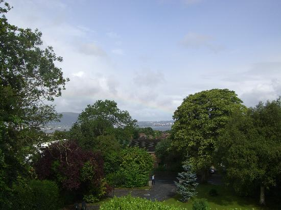 Holywood, UK : The view from our room over belfast harbour