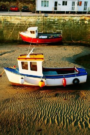 Boat in the harbout at Portreath