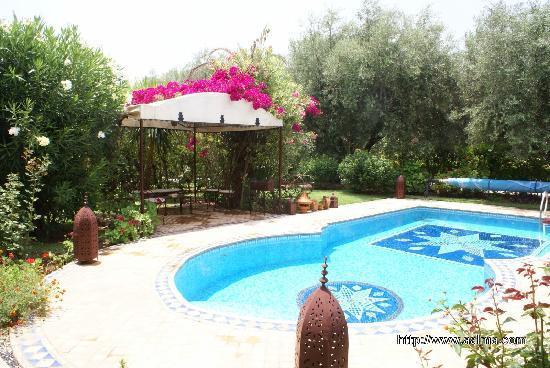 Villa Aalma: Piscine et Pergola de la Villa Aâlma à Marrakech
