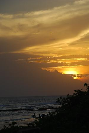 Hotel Tugu Bali: The glorious sunset.
