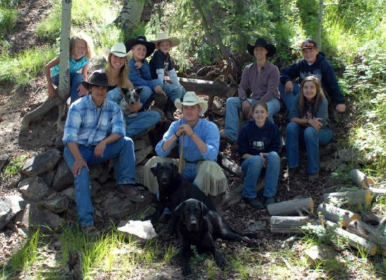 Gunnison, CO: kids and wranglers at the brunch ride.
