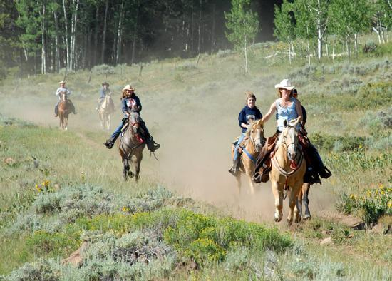 Gunnison, CO: loping on brunch ride