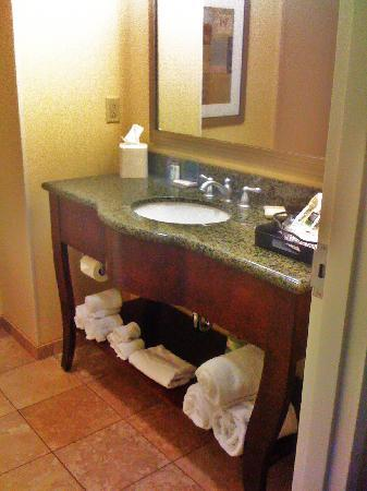 Hampton Inn & Suites Little Rock - Downtown: Bathroom Sink