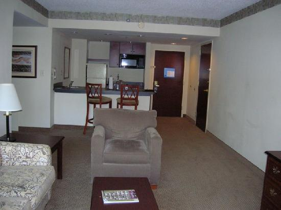 Hampton Inn and Suites Charlotte - Arrowood Rd.: most spacious suite ever
