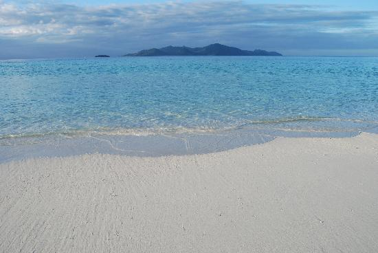 "Royal Davui Island Resort : View of the Beqa Lagoon from the ""Sand Spit"""