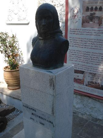 Spetses, Grèce : Bust of Laskarina Bouboulina