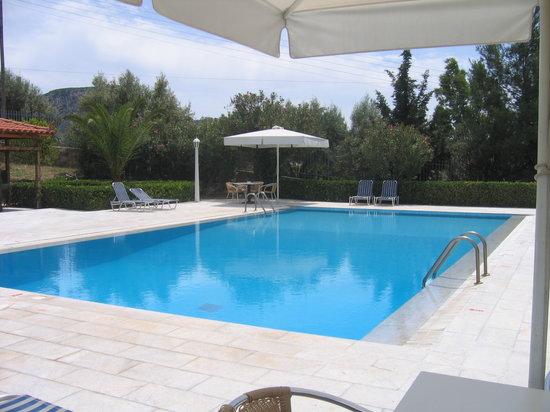 the pool at Villa Christina