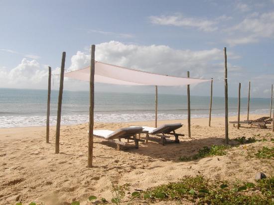Ponta do Corumbau, BA: Strand vor dem Hotel