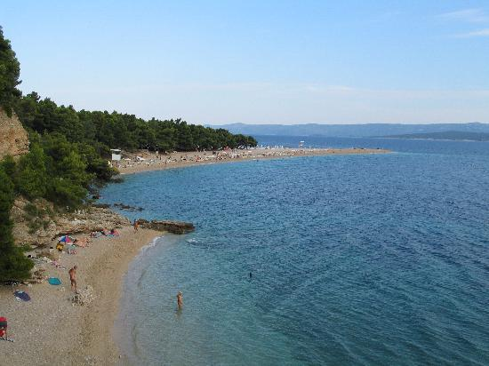 Villa Giardino: Cove near Zlatni Rat Beach, Bol