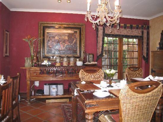 Rustenburg, Sydafrika: Breakfast room