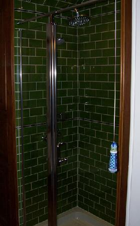 Ceol Na Mara: The shower with pretty ceramic light pull