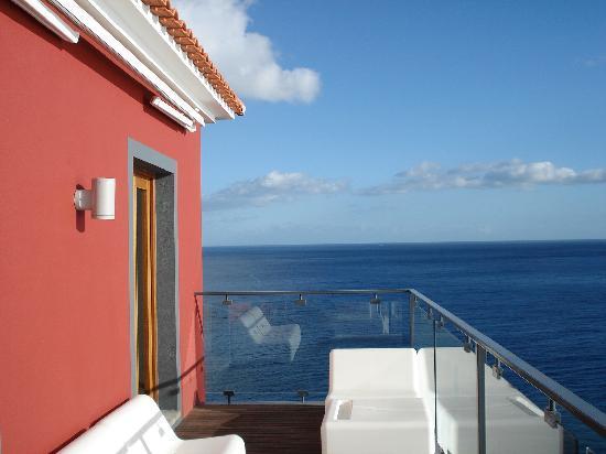 Estalagem Ponta do Sol: view from bar balcony - in January '09!