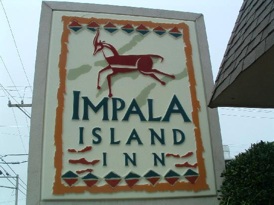 ‪‪Impala Island Inn‬: Impala Island Inn sign on 10th & Ocean‬