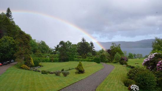 Tiroran House Hotel & Restaurant: Somewhere over the rainbow