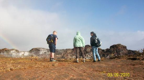 Volcano, HI: At the edge of Mauna Ulu crater.