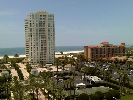 Clearwater Beach Marriott Suites on Sand Key: View from the top floor, gulf side.