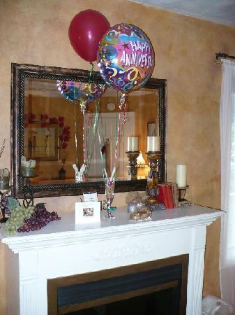 Country Villa B Inn Day Spa Anniversary Balloons In Our Room