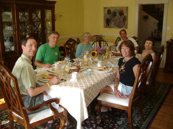 Taylor House Inn: all of us at breakfast