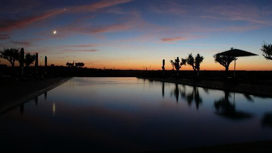 Herdade da Cortesia: The pool at Sunset (no editing, posted as it was shot)