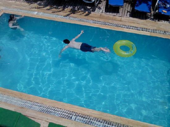 Marlin House: Back pool at Marlin boy swimning (13)