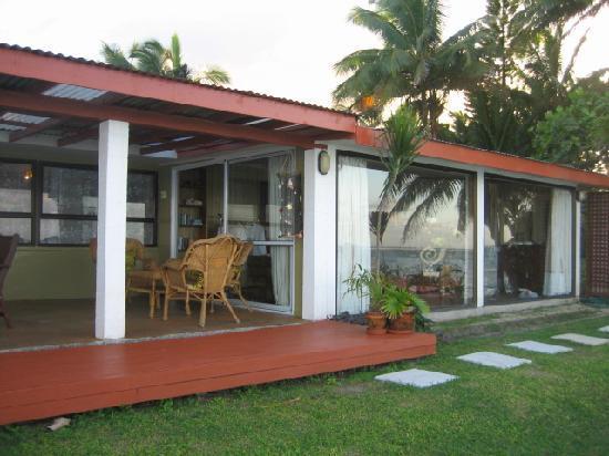 Main Islander On The Beach Holiday Properties: beach facing patio of Main Islander